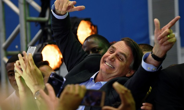 Jair Bolsonaro na convenção do PSL
