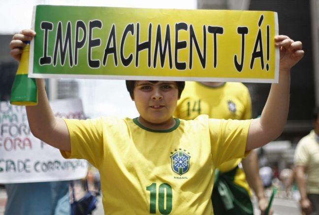 Manifestação pelo impeachment, São Paulo, 13/12/2015  (Foto: Miguel Schincariol / AFP)