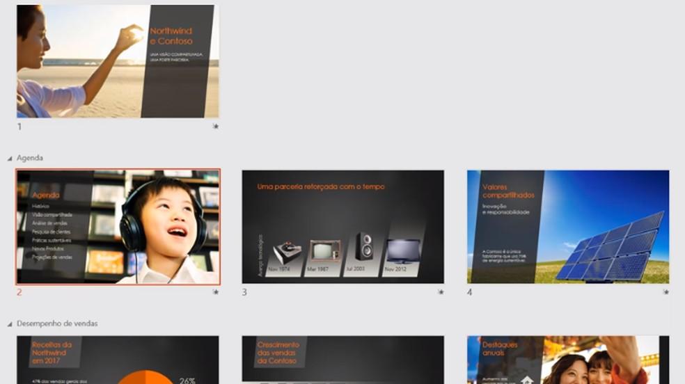 Recurso Zoom permite criar apresentações mais criativas no PowerPoint — Foto: Divulgação/Microsoft