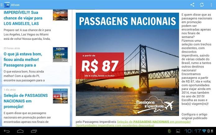 Passagens Imperdíveis: o nome diz tudo, acompanhe promoções de viagens (Foto: Divulgação)