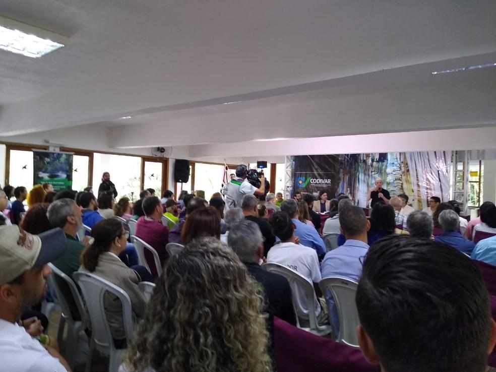 Plano Regional de Turismo foi lançado em Eldorado, SP, nesta segunda-feira — Foto: Dione Aguiar/G1