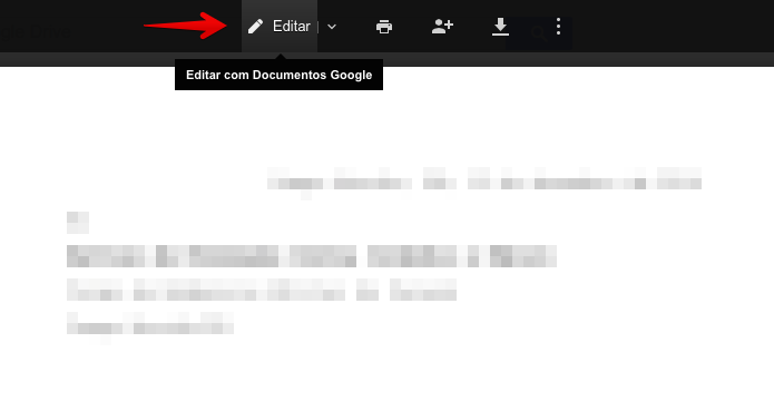 Editando documento do Word no Google Docs (Foto: Reprodu??o/Helito Bijora)