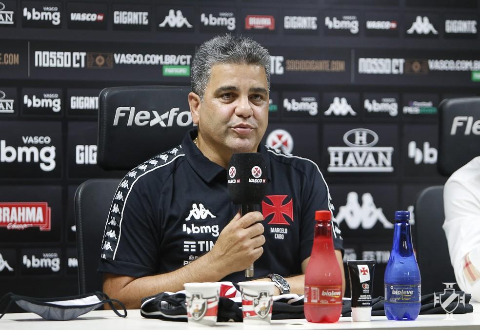 Marcelo Cabo é apresentado como novo treinador do Vasco — Foto: Rafael Ribeiro/Vasco