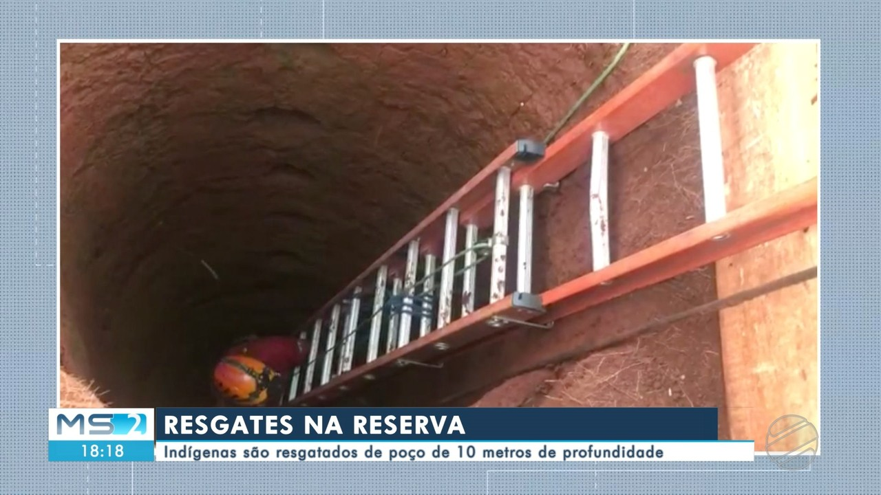Indígenas são resgatados de poço de 10 metros de profundidade