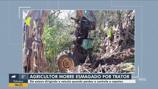 Agricultor morre em acidente com trator no Oeste catarinense