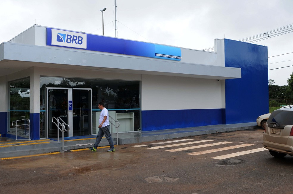Agência do Banco de Brasília em Brazlândia — Foto: Gabriel Jabur/Agência Brasília