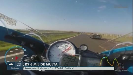 Três motociclistas são multados por rachas na Rodovia Cândido Portinari entre Restinga e Batatais, SP