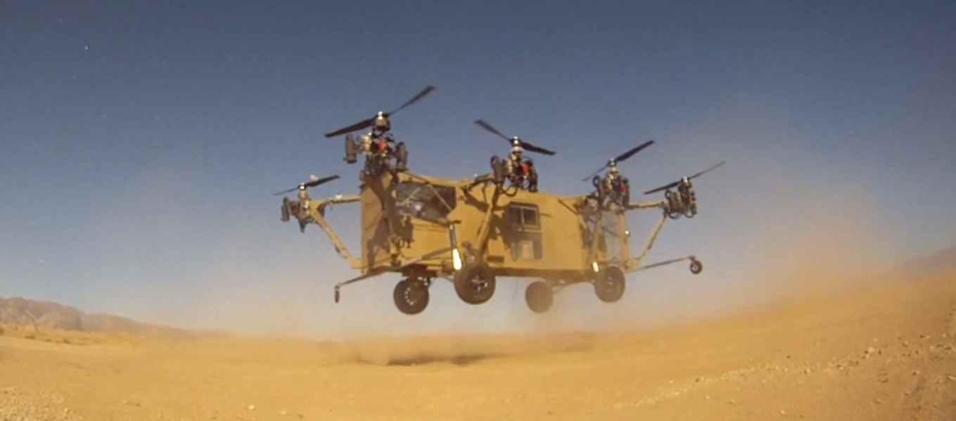 Veículo híbrido criado pela Advanced Tactics (Foto: Reprodução)
