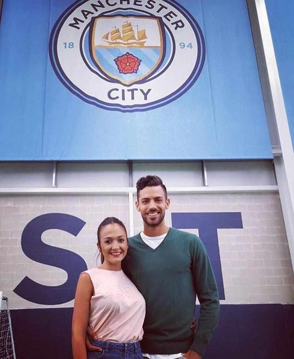 Contrato em 2016 pelo Manchester City, Pablo não chegou a jogar pelo clube inglês — Foto: Reprodução / Instagram
