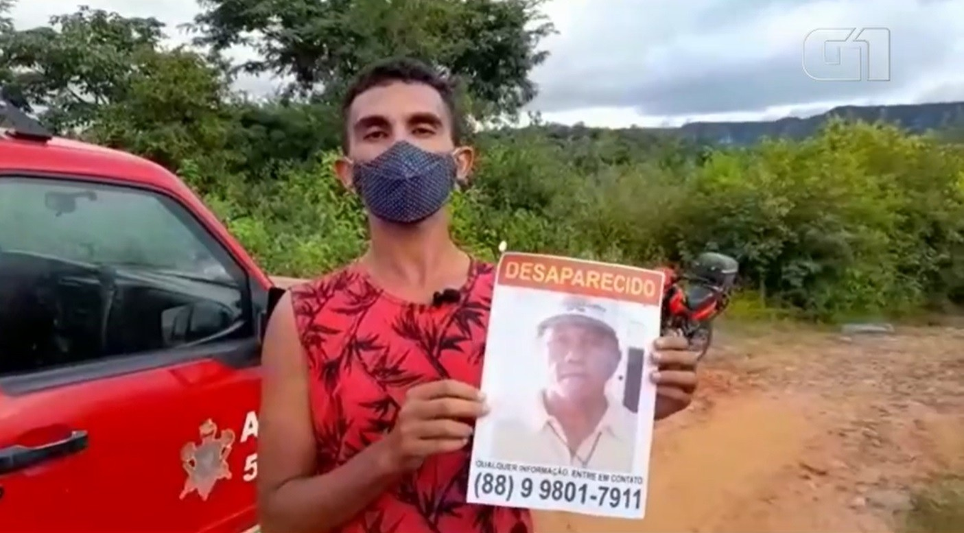 Idoso foge de casa no Ceará por medo de ter contraído Covid e está desaparecido
