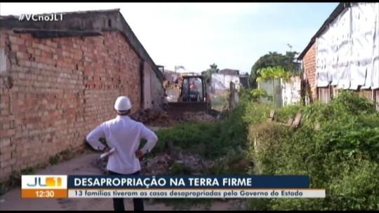 Governo cumpre reintegração de posse e desapropria 13 famílias na Terra Firme, em Belém