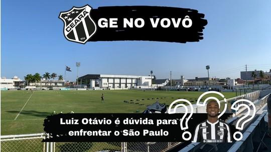 Ceará x São Paulo: Luiz Otávio é dúvida para duelo de domingo
