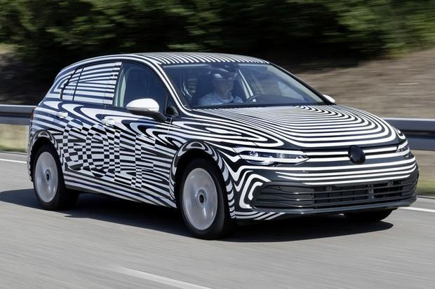 A oitava geração do Golf camuflada  (Foto: Volkswagen)