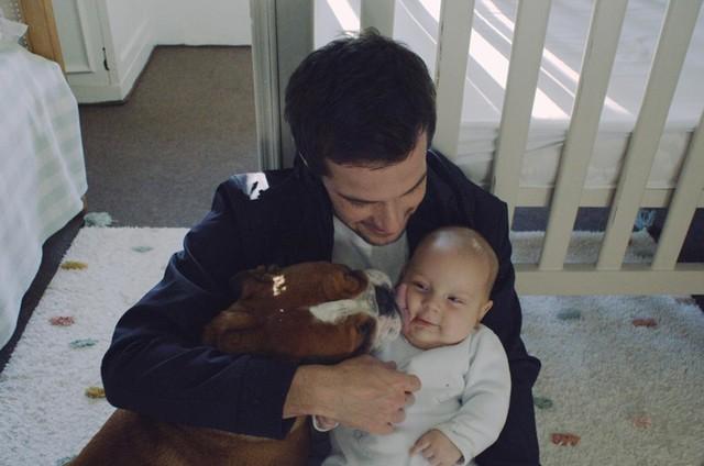 Jayme Matarazzo com o filho, Antônio (Foto: Babuska)