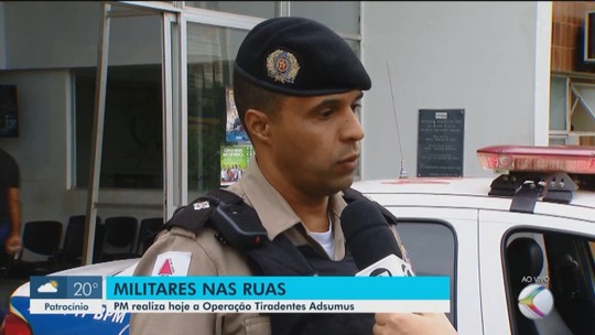 Operação estadual 'Tiradentes Adsumus' é feita por militares no Triângulo Mineiro e Alto Paranaíba