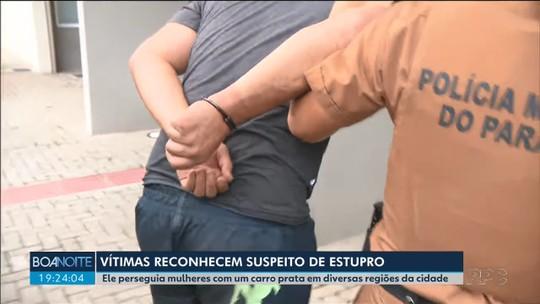 Vítimas reconhecem suspeito de perseguir e estuprar mulheres, em Curitiba