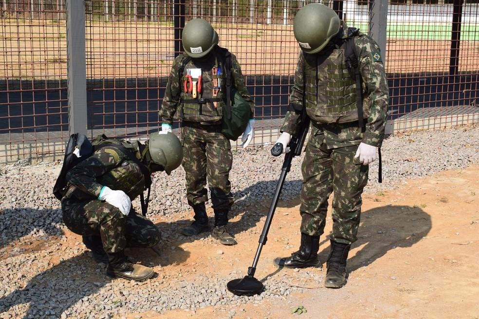 Operação realizada nos presídios de Ariquemes foi coordenada pelo Exército (Foto: Assessoria 17ª Bda Inf Sl/Divulgação)