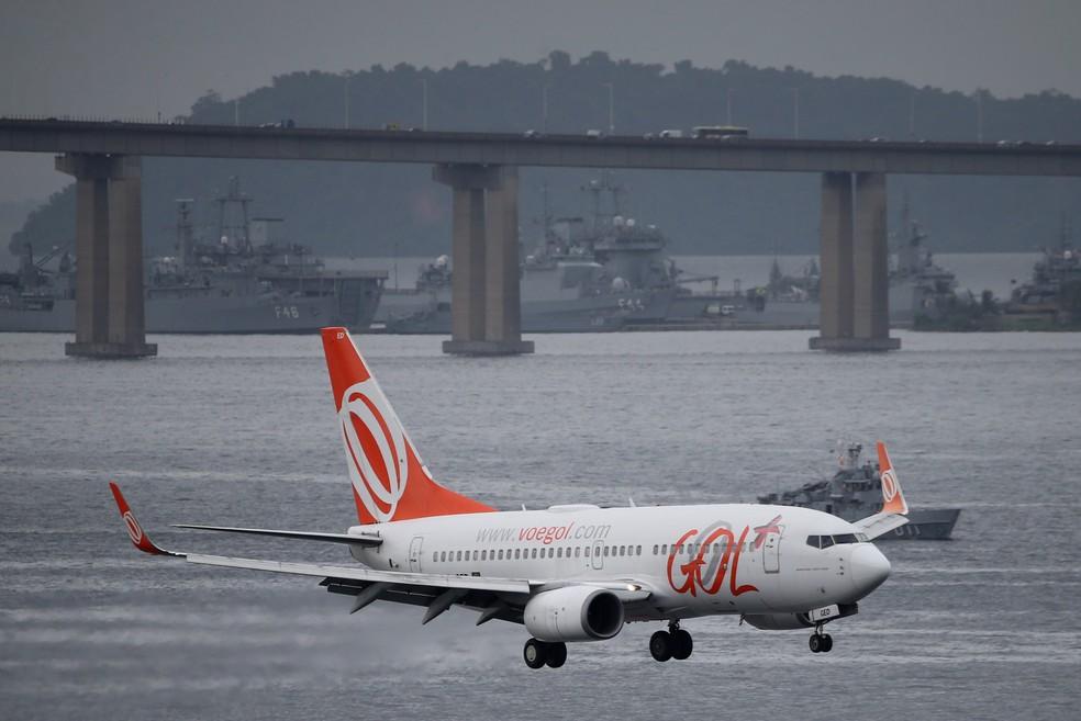 Avião da companhia aérea Gol— Foto: Sergio Moraes/Reuters