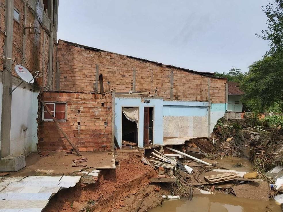 Chuva causou estragos em Brusque — Foto: Prefeitura de Brusque/Divulgação