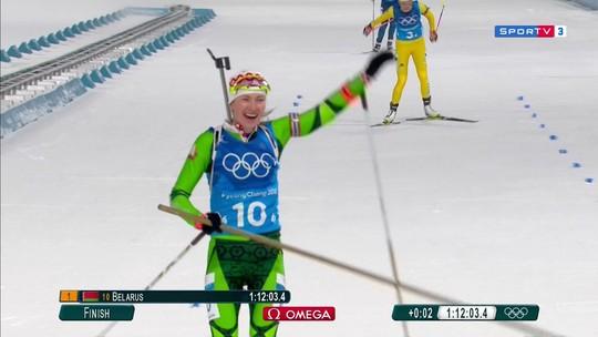 Belarus conquista o ouro no revezamento do biatlo feminino, em PyeongChang