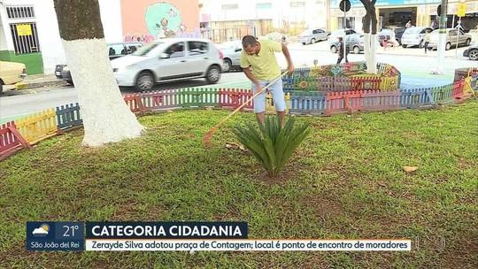 Zerayde Silva adotou uma praça em Contagem