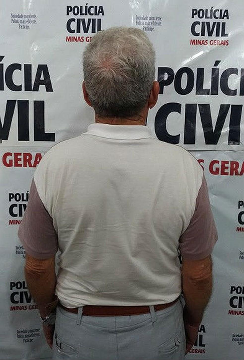 -  Policial Militar reformado de 76 anos foi preso nesta quarta  13  suspeito de estuprar neta de 7 anos em Barbacena  Foto: Polícia Civil/Divulgação