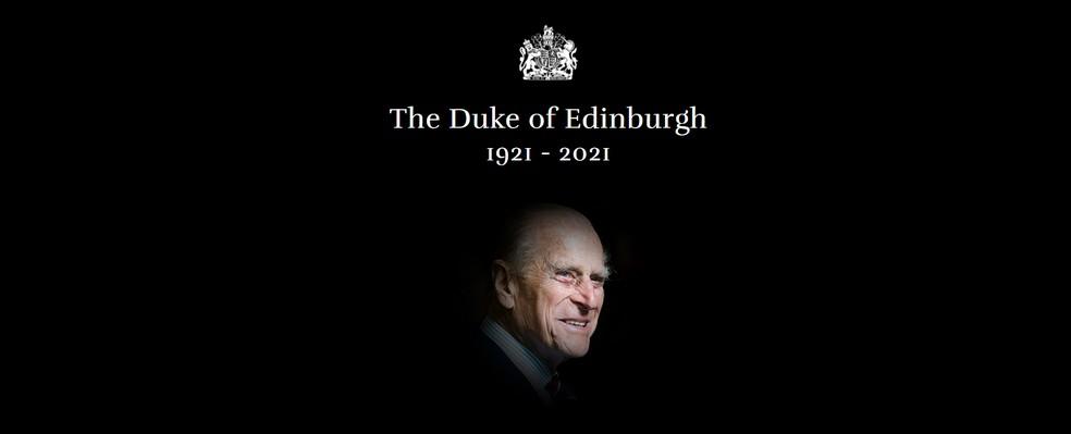 Montagem com a imagem do príncipe Philip — Foto: Reprodução