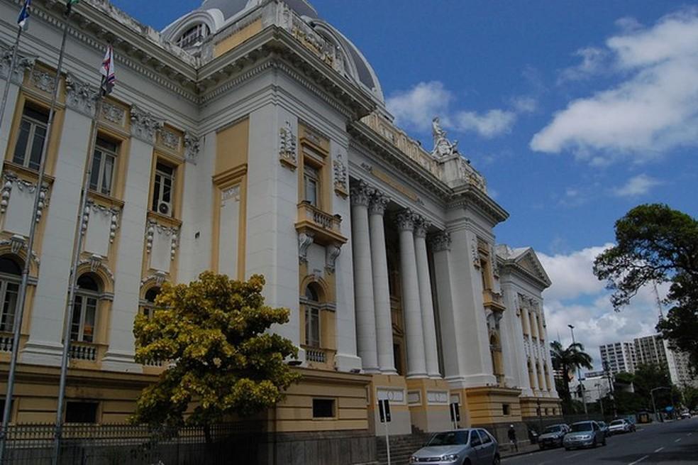 Tribunal de Justiça de Pernambuco (TJPE), no Palácio da Justiça, ná área central do Recife — Foto: Arquivo/G1