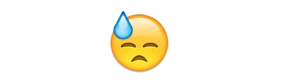 Emoji que demonstra stress ou trabalho duro — Foto: Reprodução/TechTudo