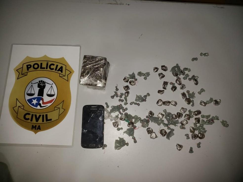 Polícia Civil do Maranhão apreendeu drogas prontas para consumo.  — Foto: Divulgação/Polícia Civil