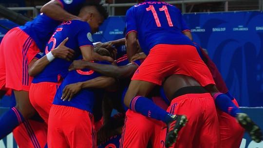 Veja os gols da vitória da Colômbia sobre a Argentina na Copa América