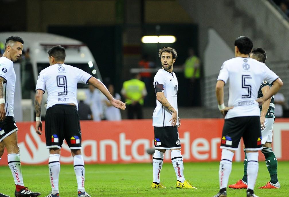 Pelo Colo-Colo, Valdivia enfrentou o Palmeiras na Libertadores de 2018 — Foto: Marcos Ribolli