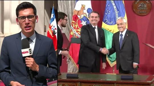 Bolsonaro e Piñera assinam acordos bilaterais