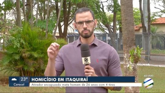 Atirador encapuzado mata homem de 26 anos com 4 tiros em Itaquiraí