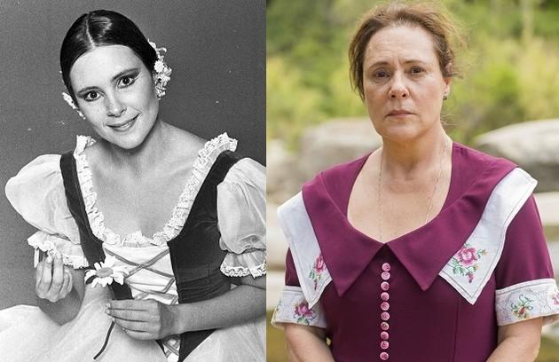 Elizabeth Savala interpretou Carina, bailarina de sucesso de uma família tradicional que se envolve com André (Foto: Divulgação)