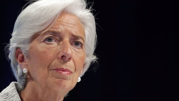 Christine Lagarde durante encontro com Banco Mundial (Foto: Chip Somodevilla/Getty Images)