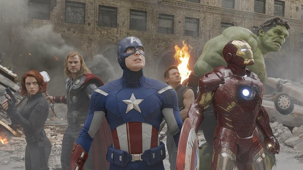 Cena de 'Os vingadores, filme de 2012 que reuniu super-heróis da Marvel pela primeira vez (Foto: Divulgação)