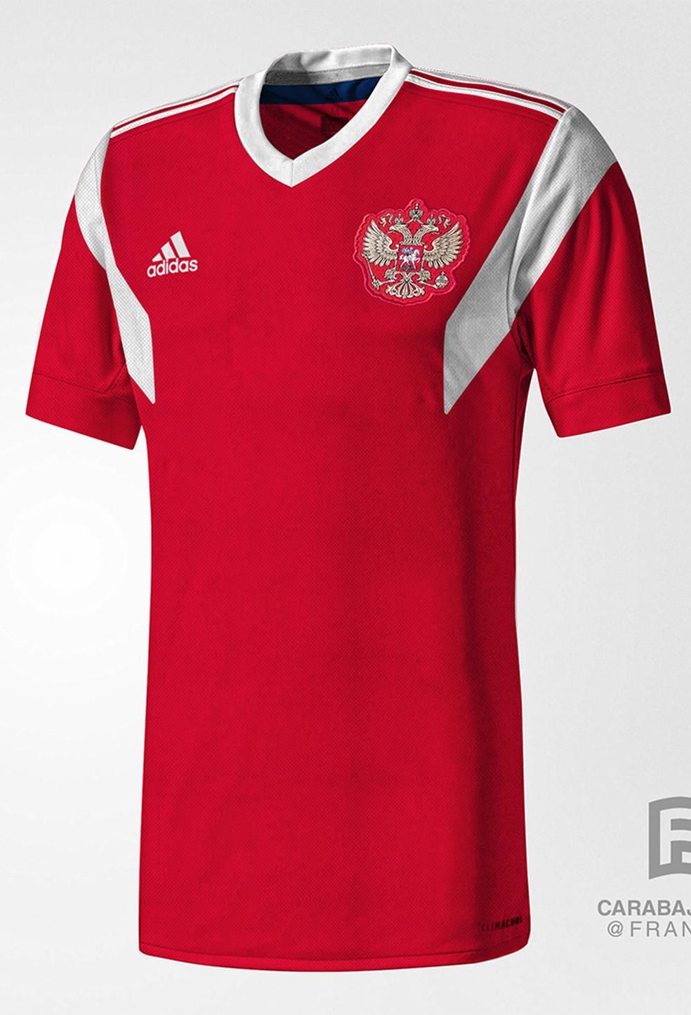 ... Oficial  Camisa da Rússia para a Copa do Mundo — Foto  Reprodução   Todo 94c8885a8c843