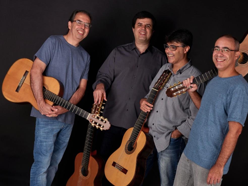 Quarteto Maogani lança o 'Álbum da Califórnia' na próxima sexta-feira, 22 de fevereiro — Foto: Nana Moraes / Divulgação