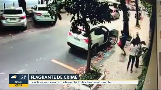 Bandidos roubam carro no Humaitá