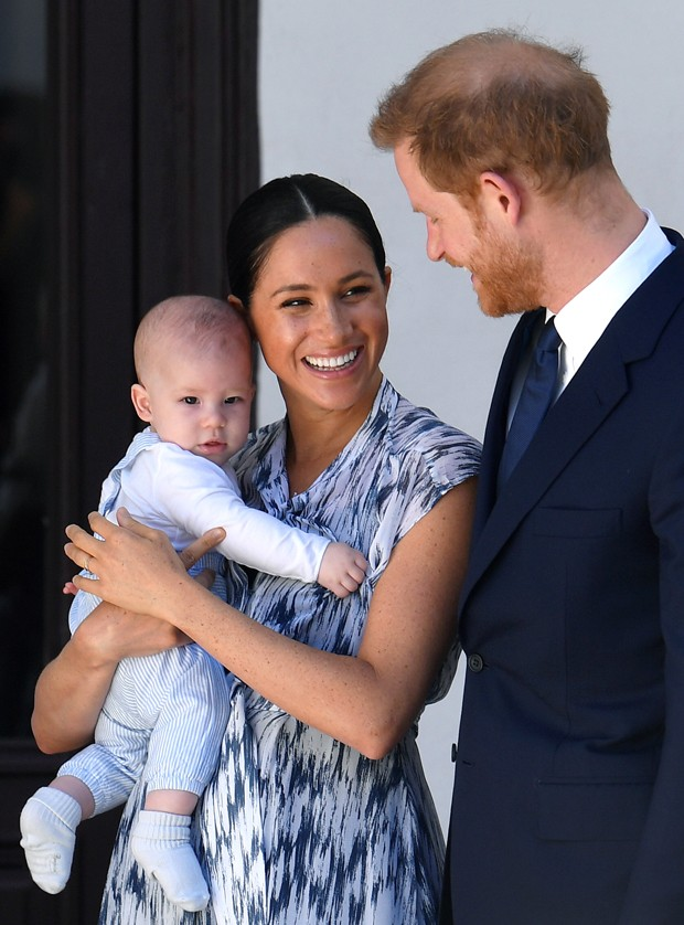 Meghan Markle, Príncipe Harry e o pequeno Archie Harrison (Foto: Getty Images)