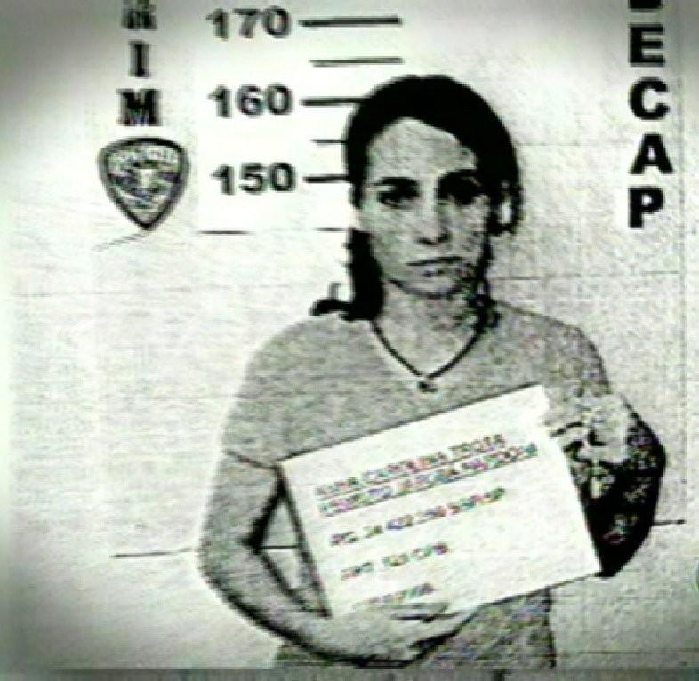 Anna Carolina Jatobá ao ser presa, em maio de 2008