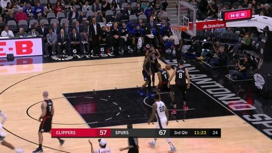 Melhores momentos: Spurs 125 x 87 Clippers pela NBA