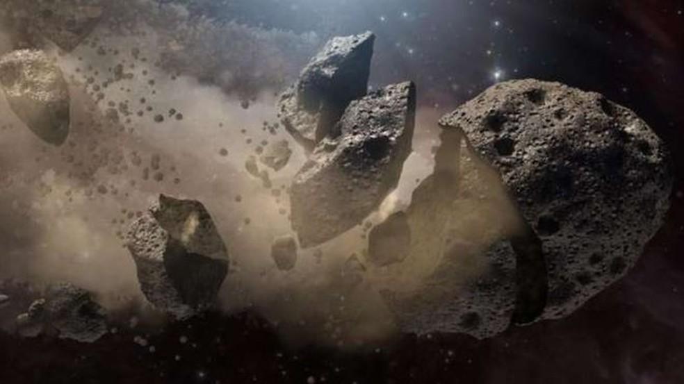 Asteroide de 5 km vai passar 'raspando' na Terra antes do Natal (Foto: BBC)