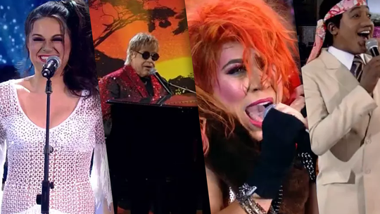 'Show dos Famosos': Tiago Abravanel emociona como Elton John no palco do 'Domingão'