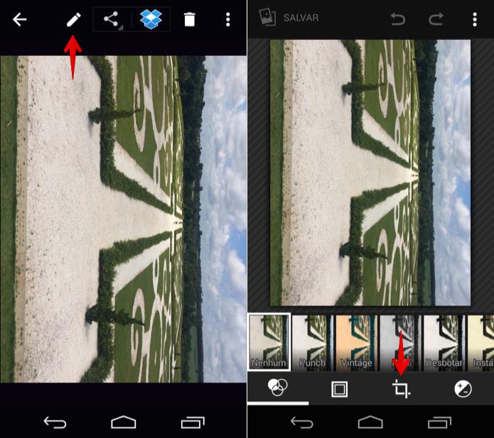 Editando foto no Android (Foto: Reprodução/Helito Bijora)