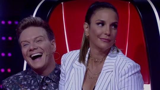 Ivete provoca Teló e 'rouba' cadeira do sertanejo na sétima noite de 'Audições às Cegas'