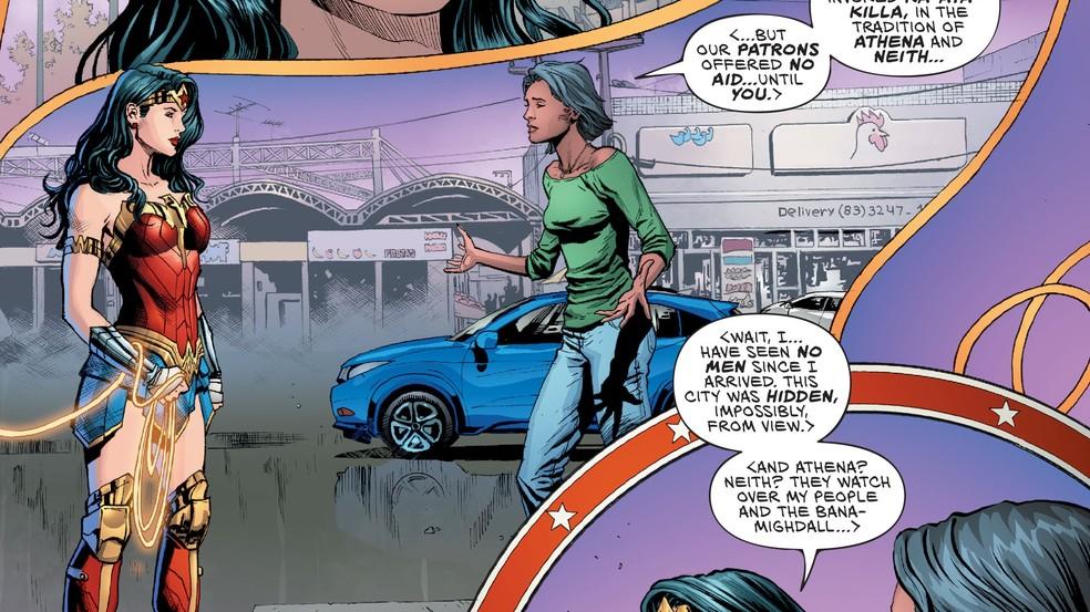 Mercado de Tambaú como cenário de edição de HQ da Mulher-Maravilha — Foto: Reprodução/DC Comics
