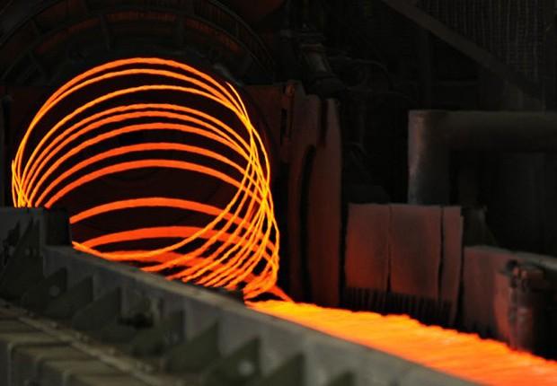 Produção de aço na Votorantim Siderurgia (Foto: Divulgação)