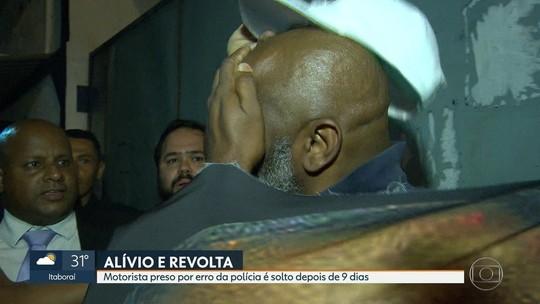 Motorista preso por engano no Rio é solto após nove dias